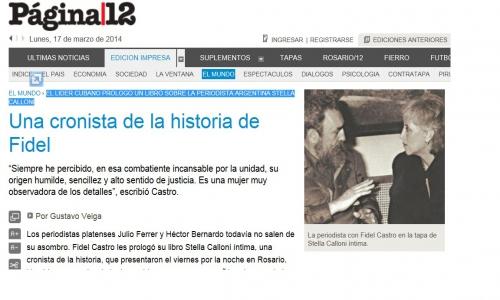 (17/03/2014) Una cronista de la historia de Fidel