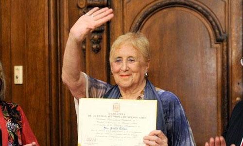 (08/04/2014) Distinguieron a la periodista Stella Calloni en la Legislatura porteña