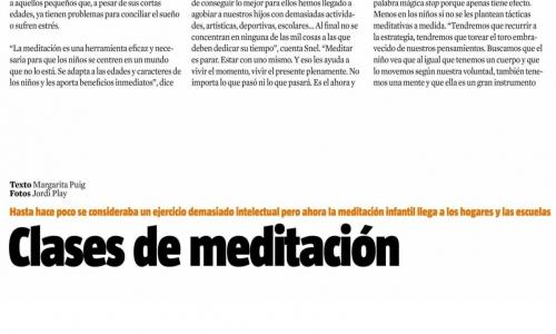 (08/10/2014) Tranquilos y Atentos en La Vanguardia