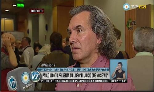 (28/05/2015) El juicio que no se vio. Entrevista a Pablo Llonto en la TV Pública