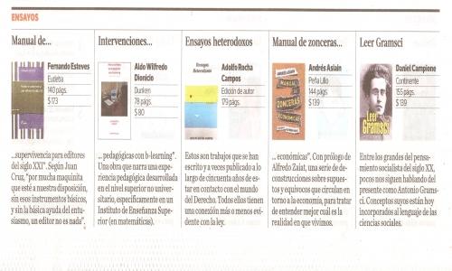 (06/03/2015) Manual de Zonceras y Leer Gramsci en Ñ