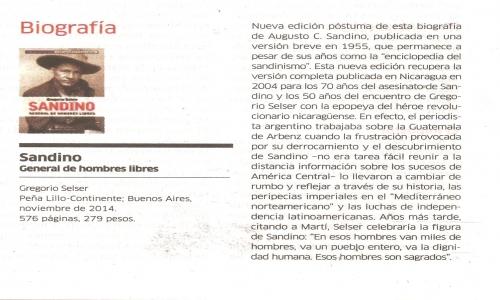 (01/06/2015) Sandino en Le Monde de junio