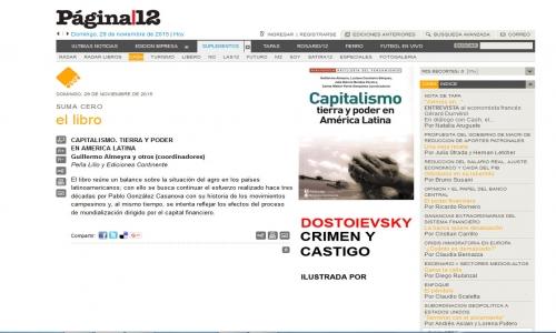 (29/11/2015) Capitalismo tierra y poder en América Latina en el suplemento Cash