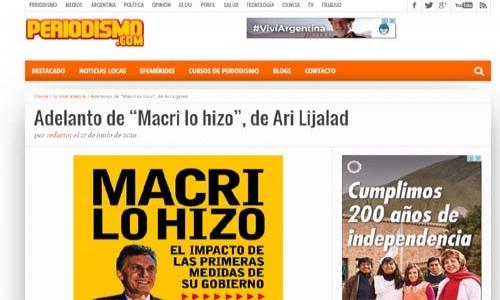 (17/06/2016) Adelanto de Macri lo hizo en Periodismo.com