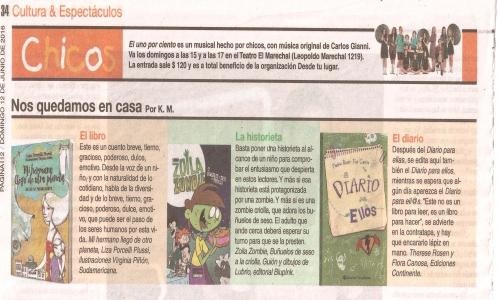 (12/06/2016) Diario para ellos en Página/12