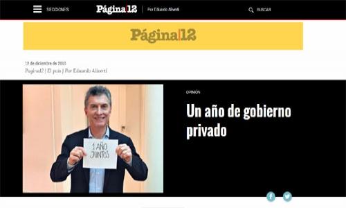 (12/12/2016) Plan Macri en la columna de Eduardo Aliverti en Página/12