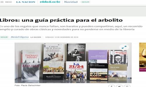(10/12/2016) La 21/24 entre los libros recomedados para el arbolito en La Nación