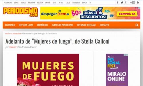 (25/01/2017) Adelanto de Mujeres de fuego en Periodismo.com