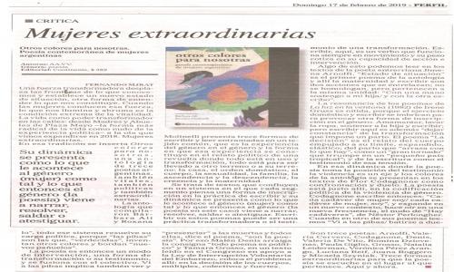 (17/02/2019) Otros colores para nosotras en Cultura de Perfil