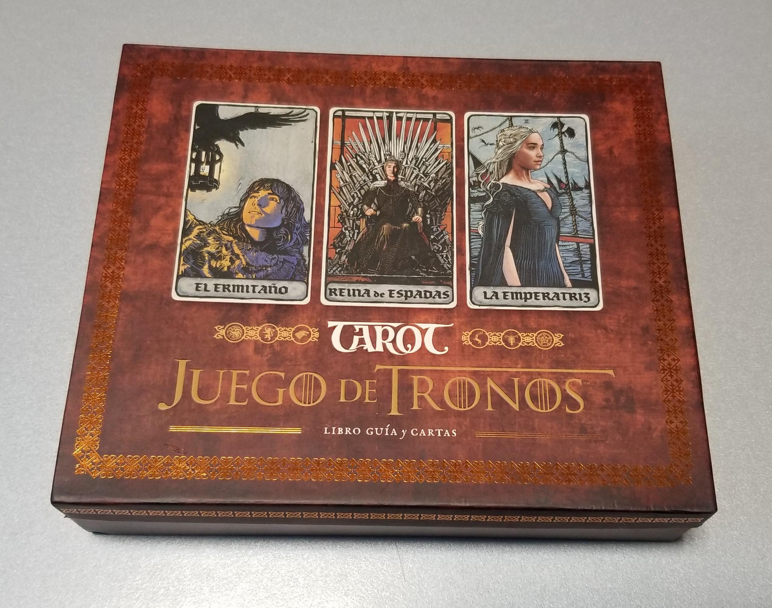 TAROT JUEGO DE TRONOS - LIBRO GUIA Y CARTAS