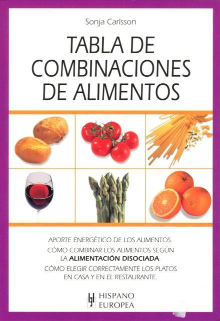TABLA DE COMBINACIONES DE ALIMENTOS