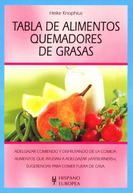 QUEMADORES DE GRASAS TABLA DE ALIMENTOS