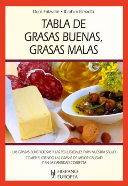 TABLA DE GRASAS BUENAS , GRASAS MALAS