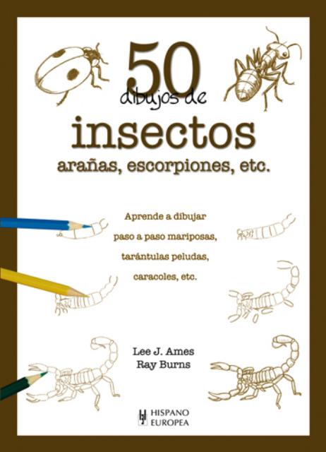 INSECTOS , ARAÑAS , ESCORPIONES , ETC. 50 DIBUJOS DE