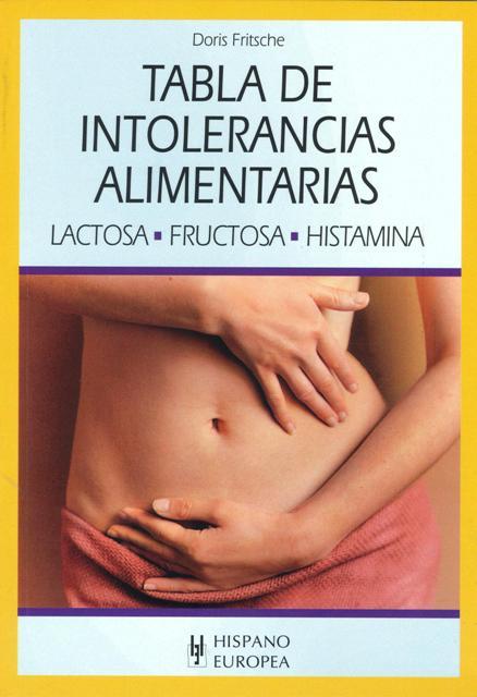 TABLA DE INTOLERANCIAS ALIMENTARIAS . LACTOSA , FRUCTOSA , HISTAMINA