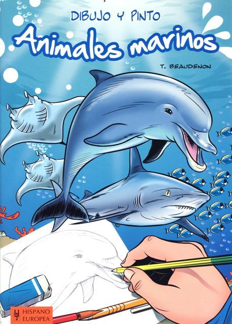 ANIMALES MARINOS . DIBUJO Y PINTO