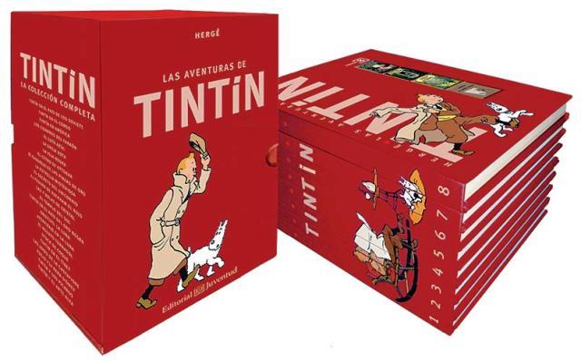 TINTIN COLECCION COMPLETA X 8 VOL.