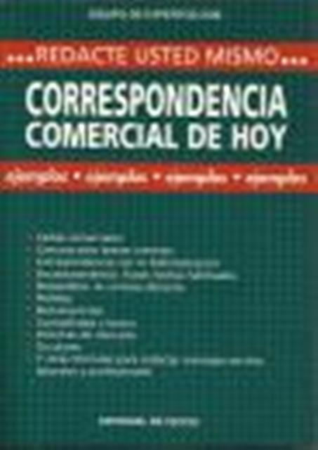 CORRESPONDENCIA COMERCIAL DE HOY . REDACTE USTED MISMO