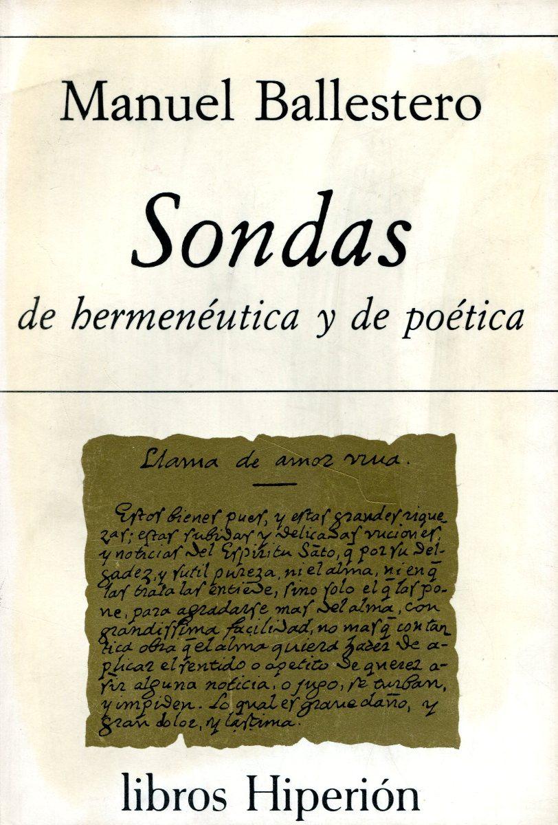 SONDAS DE HERMENEUTICA Y DE POETICA