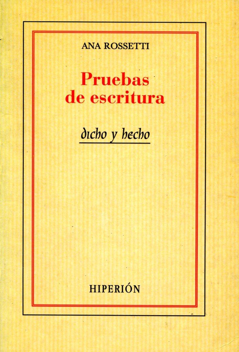 PRUEBAS DE ESCRITURA