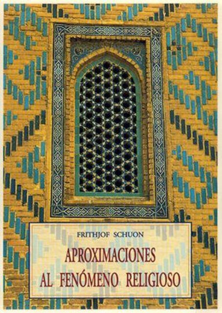 APROXIMACIONES AL FENOMENO RELIGIOSO
