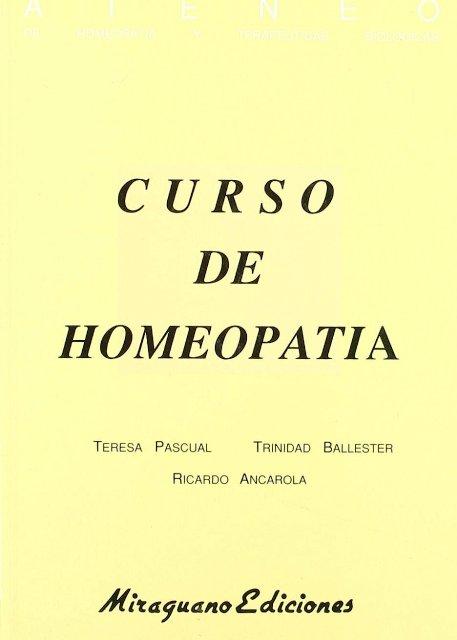 CURSO DE HOMEOPATIA