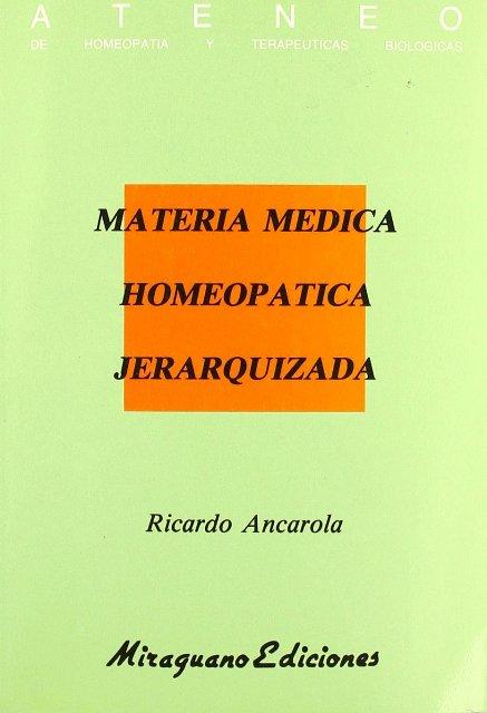 MATERIA MEDICA HOMEOPATICA JERARQUIZADA