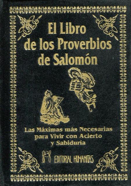 EL LIBRO DE LOS PROVERBIOS DE SALOMON (T)