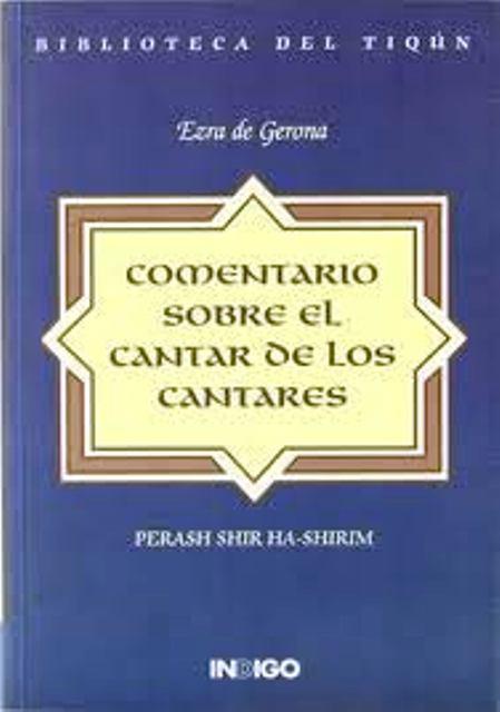COMENTARIO SOBRE EL CANTAR DE LOS CANTARES