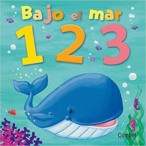 BAJO EL MAR 1 2 3 LIBRO TODO CARTON INCLUYE UN ROMPECABEZAS