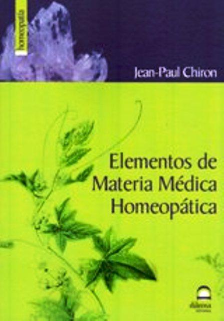 ELEMENTOS DE MATERIA MEDICA HOMEOPATICA