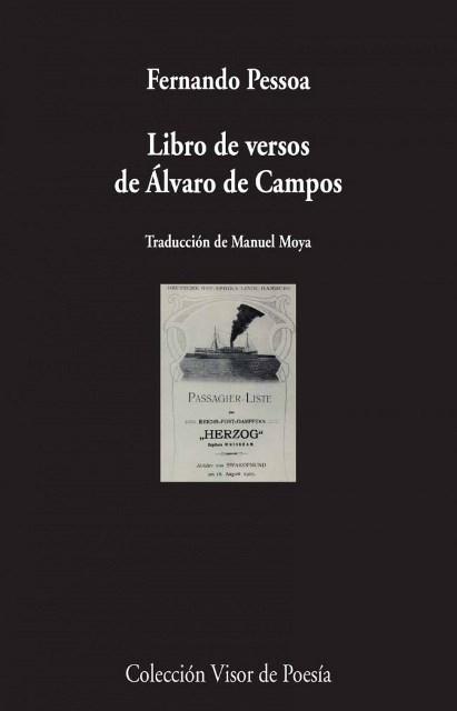 LIBRO DE VERSOS DE ALVARO DE CAMPOS