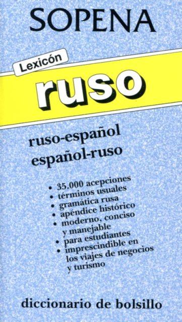 LEXICON RUSO . RUSO - ESPAÑOL ESPAÑOL - RUSO DICC. BOLSILLO