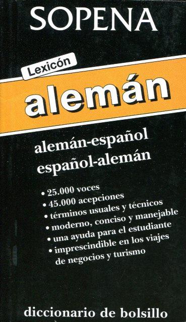 LEXICON ALEMAN . ALEMAN - ESPAÑOL ESPAÑOL - ALEMAN DICC. DE BOLSILLO