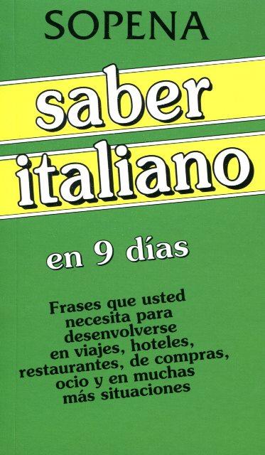 SABER ITALIANO EN 9 DIAS