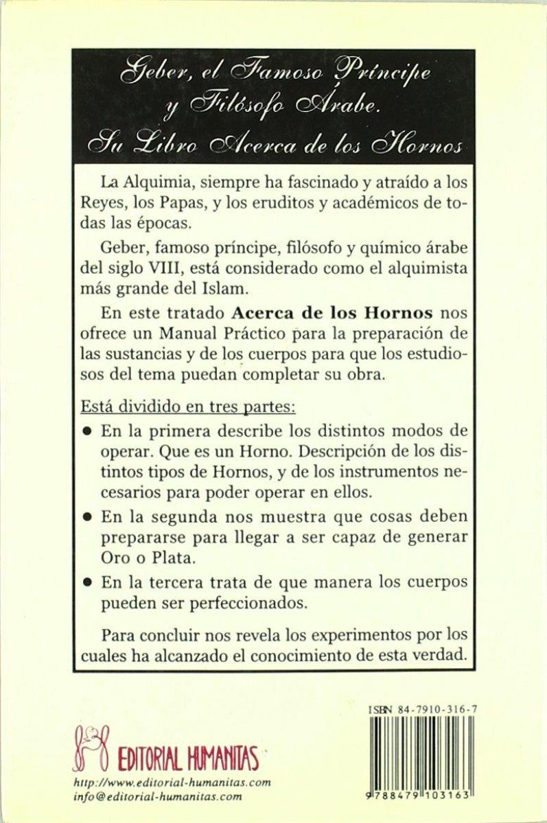 ACERCA DE LOS HORNOS . LAS OBRAS ALQUIMICAS DE GEBER