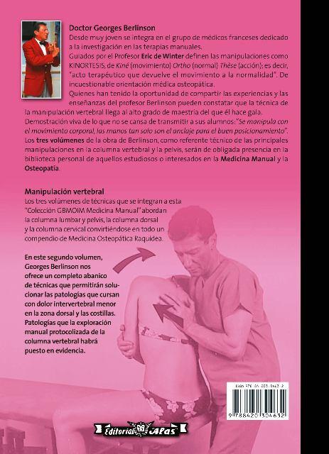 BERLINSON II - MEDICINA OSTEOPATICA RAQUIDEA - COLUMNA DORSAL :TORACICAS Y COSTALES