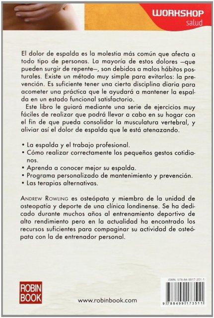 SOLUCIONES PARA EL DOLOR DE ESPALDA . WORKSHOP