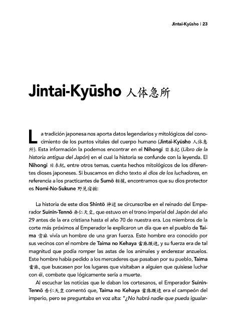 JINTAI KYUSHO . LOS PUNTOS VULNERABLES DEL CUERPO HUMANO