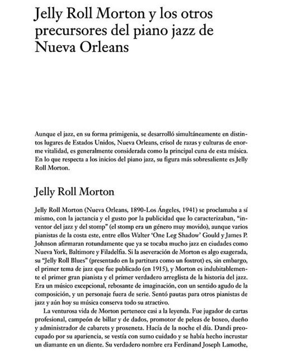 PIANO JAZZ - LA HISTORIA DEL JAZZ A TRAVES DE SUS PIANISTAS MAS DESTACADOS