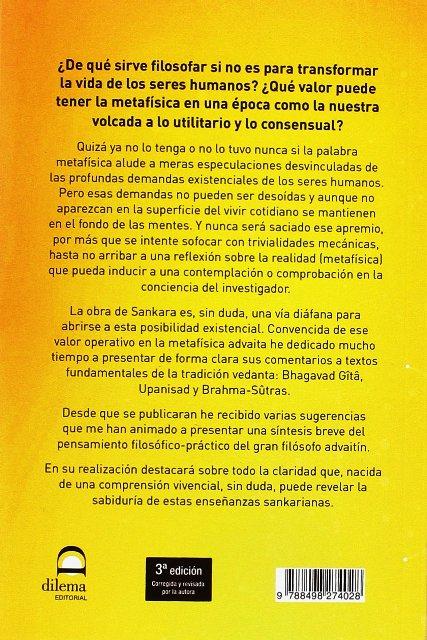 SANKARA . VISION ADVAITA DE LA REALIDAD (N.E.)
