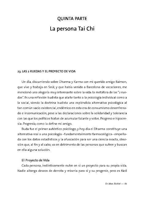 TAI CHI CHUAN - EL CAMINO DE VUELTA