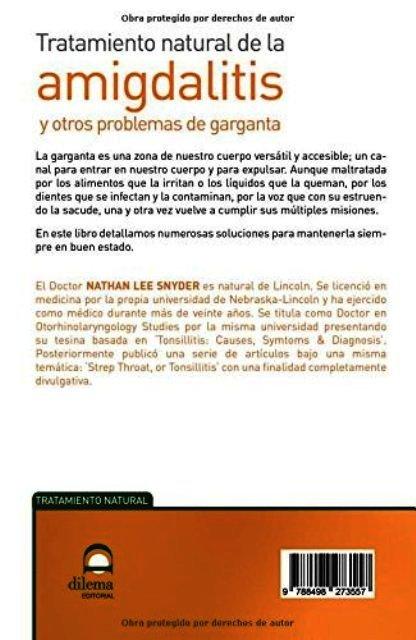 AMIGDALITIS Y OTROS PROBLEMAS DE GARGANTA - TRATAMINRO NATURAL DE LA