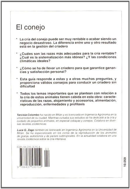 EL CONEJO . CRIA RENTABLE