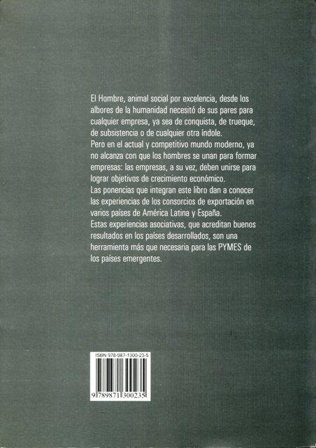 CONSORCIOS DE EXPORTACION . LA EXPERIENCIA LATINOAMERICANA Y ESPAÑOLA