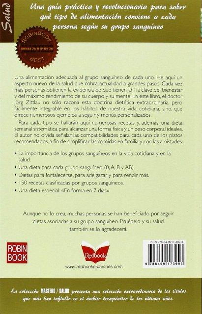 LA DIETA DEL GRUPO SANGUINEO (MASTERS)