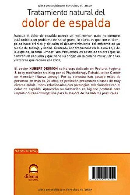 DOLOR DE ESPALDA - TRATAMIENTO NATURAL DEL