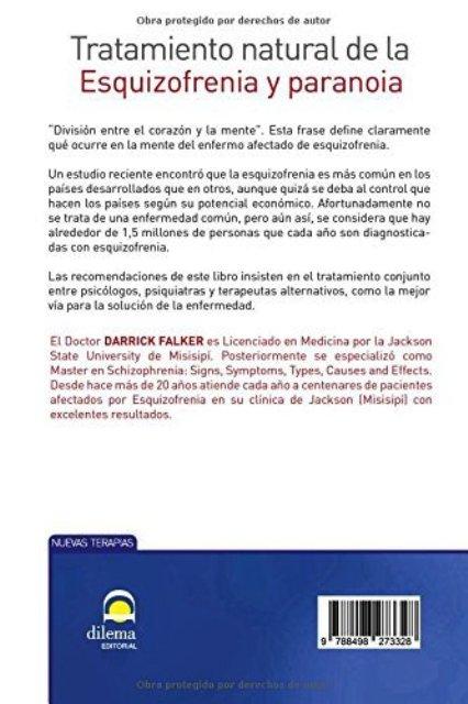 ESQUIZOFRENIA Y PARAONIA - TRATAMIENTO NATURAL DE LA