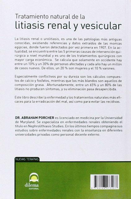LITIASIS RENAL Y VESICULAR - TRATAMIENTO NATURAL DE LA