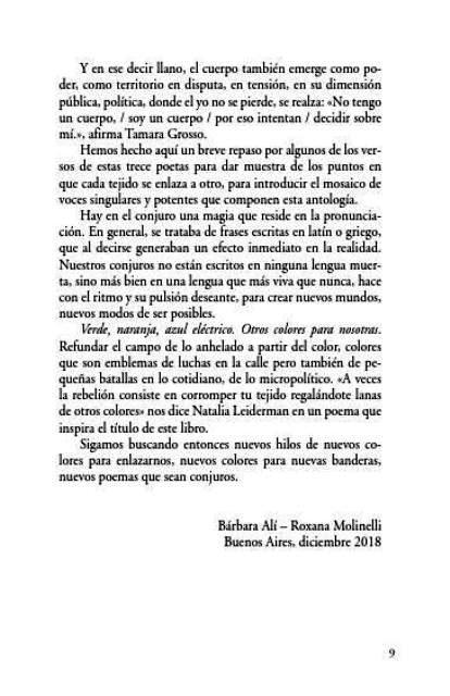 OTROS COLORES PARA NOSOTRAS : POESIA CONTEMPORANEA DE MUJERES ARGENTINAS